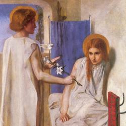 D・G・ロセッティ「受胎告知」 クリスティーナをモデルにした絵画の一つ